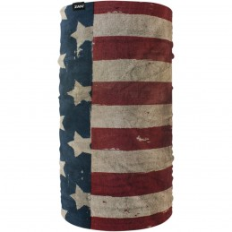 Šatka ZAN HEADGEAR motley tube patriot modro-červeno-biela