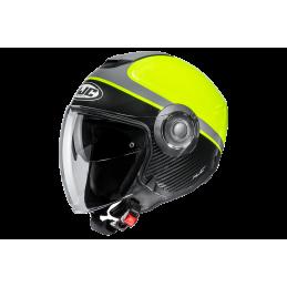 Prilba na motorku HJC i40 Wirox black neon yellow
