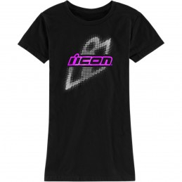 Dámske tričko ICON sparkleslant čierno-fialovo-biele