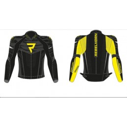 Bunda na motorku REBELHORN Vandal black/flo yellow