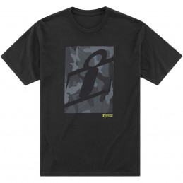 Tričko ICON cloaking camo čierno-šedé