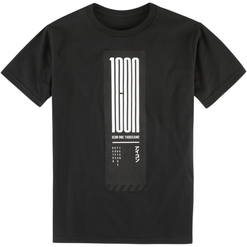 Tričko ICON neon tokyo čierne