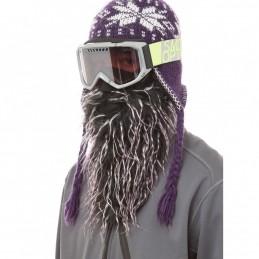Maska na tvár CRAZYEARS Beardski Daze black and purple