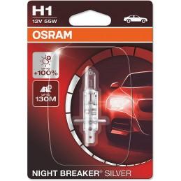 Žiarovka na motorku OSRAM Night Breaker Silver H1 55W 12V blister