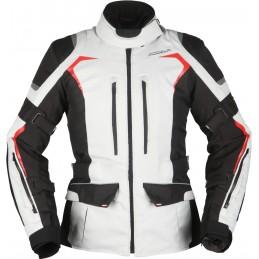 Dámska bunda na motorku MODEKA Elaya Damen white/black