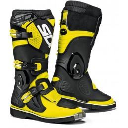 Detské topánky na motorku SIDI Flame black/yellow