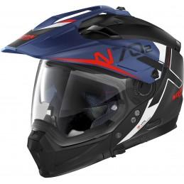 Prilba na motocykel NOLAN N70-2 X Bungee N-Com matt black/blue