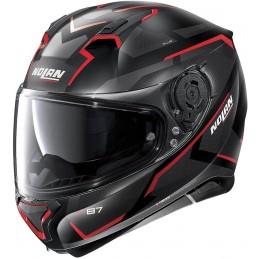 Prilba na motocykel NOLAN N87 plus overland black matt/red