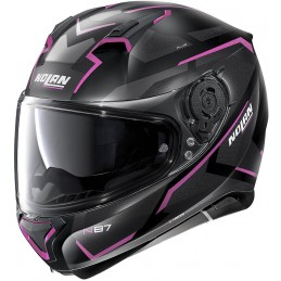 Prilba na motocykel NOLAN N87 plus overland black matt/pink