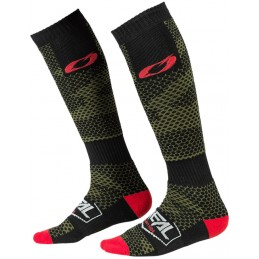 MX ponožky na motocykel Oneal Pro Covert Black/Green