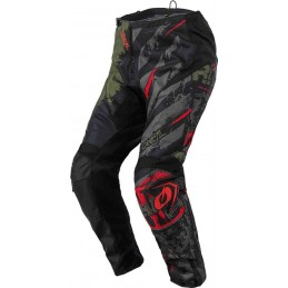 MX nohavice na motocykel Oneal Element Ride black/green