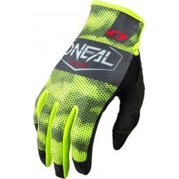 MX rukavice Oneal Mayhem Covert gray/yellow