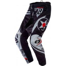 MX nohavice na motocykel Oneal Element Warhawk black/grey