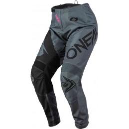 MX dámske nohavice na motocykel Oneal Element Racewear black/grey