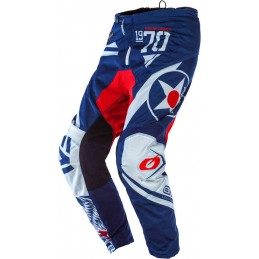 MX nohavice na motocykel Oneal Element Warhawk blue/red