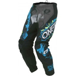 MX detské nohavice na motocykel Oneal Element Villain gray