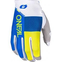 MX rukavice Oneal Mayhem Split Blue/Yellow