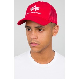 Šiltovka Alpha Industries Basic Trucker Cap red