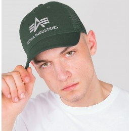 Šiltovka Alpha Industries Basic Trucker Cap green