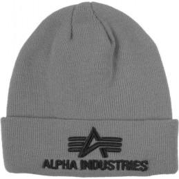 Alpha Industries čiapka 3D Beanie grey