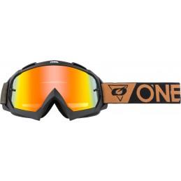 MX okuliare Oneal B-10 Speedmetal Radium black/brown