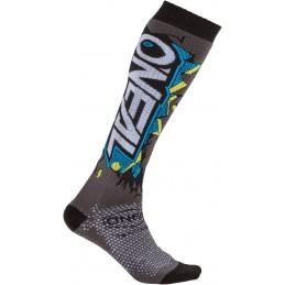 MX ponožky na motocykel Oneal MX Villain grey