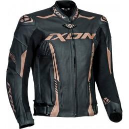 Kožená bunda Ixon Vortex 2 black/gold