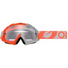 MX okuliare Oneal B-10 Twoface orange/grey