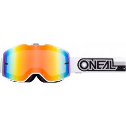 MX okuliare Oneal B-20 Proxy White/Black Mirrored