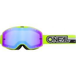 MX okuliare Oneal B-20 Proxy Yellow/Black Mirrored