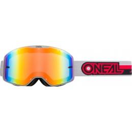 MX okuliare Oneal B-20 Proxy Grey/Red Mirrored