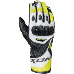Rukavice na motorku IXON RS Circuit-R black/white/yellow