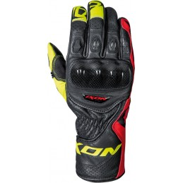 Rukavice na motorku IXON RS Circuit-R black/white/red/yellow