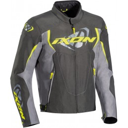 Bunda na motorku Ixon Cobra grey/yellow