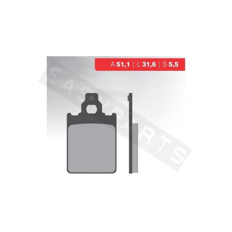 Brzdové platničky NOVASCOOT Organic FT3025