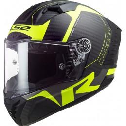 Prilba na motorku LS2 FF805 Thunder Racing1 Carbon black matt yellow