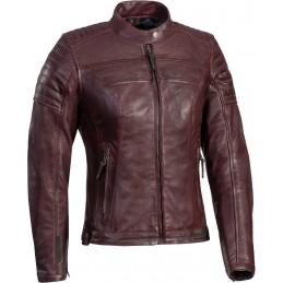 Dámska bunda na motorku IXON Spark dark red