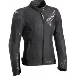 Dámska bunda na motorku IXON Luthor black/pink