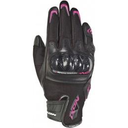 Dámske rukavice na motorku IXON Rs Rise Air black/pink