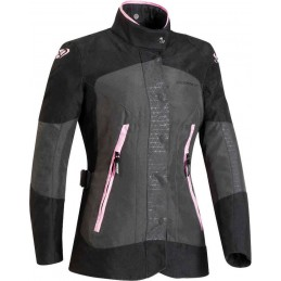 Dámska bunda na motorku IXON Bloom grey/pink