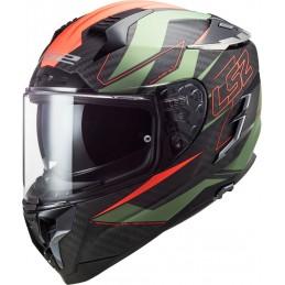 Prilba na motorku LS2 FF327 Challenger CT2 Carbon Fold red green orange