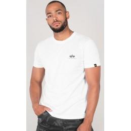 Alpha Industries pánske tričko Basic T Small Logo white