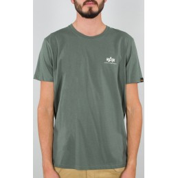 Alpha Industries pánske tričko Basic T Small Logo green