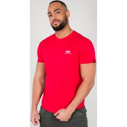 Alpha Industries pánske tričko Basic T Small Logo red