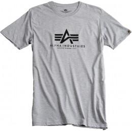 Alpha Industries pánske tričko Basic melange gray