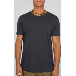 Tričko ALPHA INDUSTRIES Neck print T-shirt dark grey