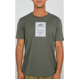 Alpha Industries pánske tričko Reflective Label olive