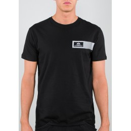 Tričko ALPHA INDUSTRIES Reflective Stripes T-Shirt black