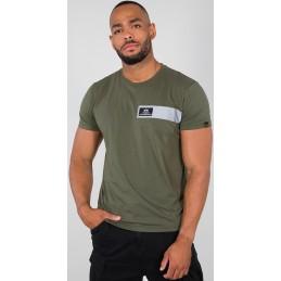Alpha Industries pánske tričko Reflective Stripes dark green