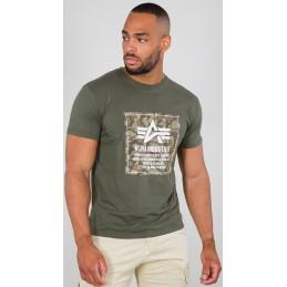 Tričko ALPHA INDUSTRIES Camo Block T-Shirt olive
